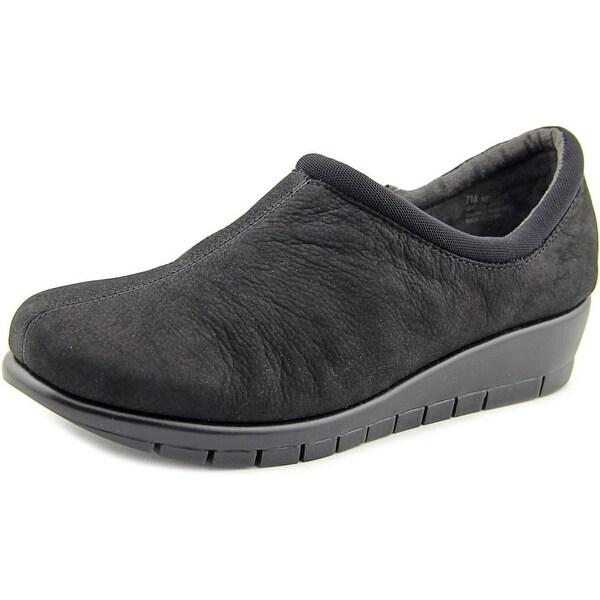 Aerosoles Melange Women Round Toe Leather Black Loafer
