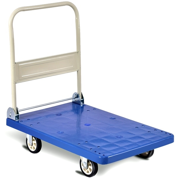 27670ad0b8c2 Shop Costway 660lbs Platform Cart Folding Dolly Hand Truck Push ...