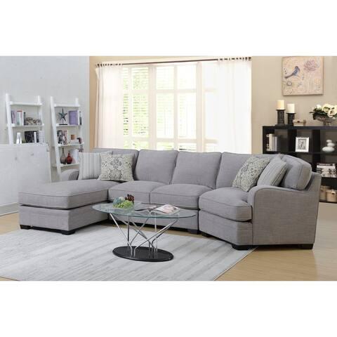 Porch & Den Diana Linen Grey Sectional