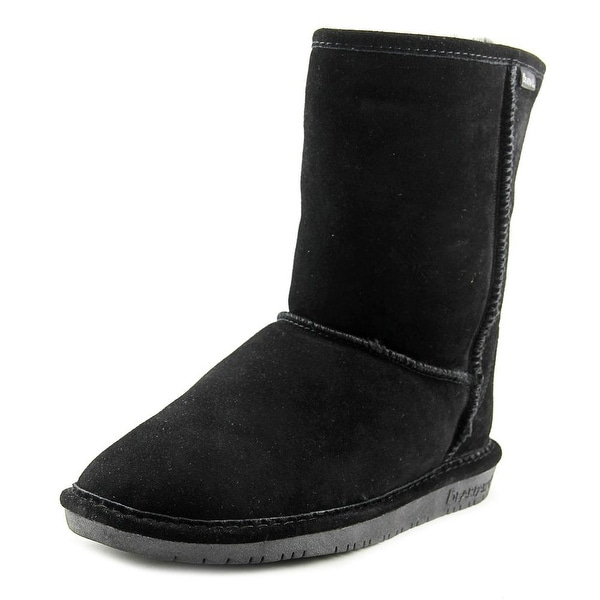 Bearpaw Emma Short Women Round Toe Suede Black Winter Boot