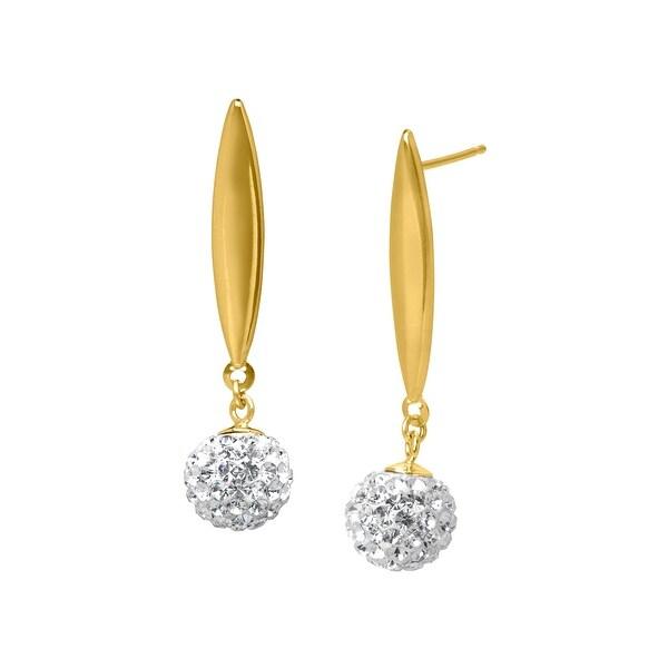 Drop Earrings with Swarovski elements Crystal in 14K Gold