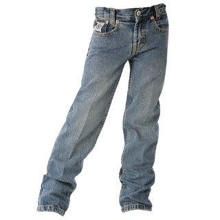 Cinch Western Denim Jeans Boys White Label Light Stonewash