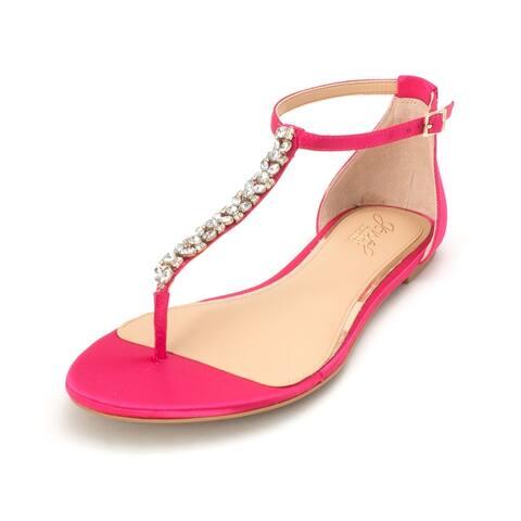 BADGLEY MISCHKA Womens Gabby Split Toe Casual Ankle Strap Sandals