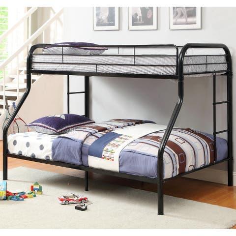 Furniture of America Hind Transitional Orange Twin/Full Metal Bunk Bed