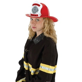 ELU3167 Morris Costumes Hat Fire Chief Red ,One Size
