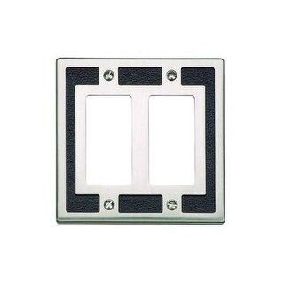 Atlas Homewares ZAPDR Zanzibar Double Rocker Switch Plate