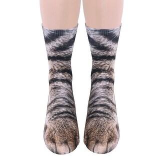 Unisex Adult Animal Paw Crew Socks - Sublimated Print - Medium
