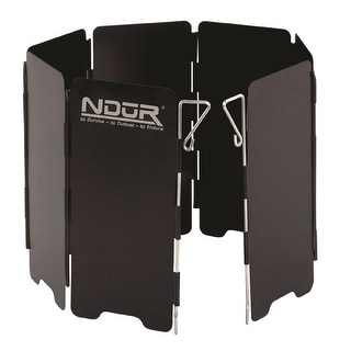 NDuR - Mini Stove Windshield Black-Large 22200