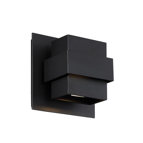 """Modern Forms WS-W30507 Pandora 2-Light 7"""" Tall Integrated LED Outdoor Wall Sconce - N/A"""