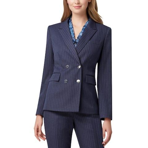 Tahari Womens Blazer Suit Separate Business - Navy/White Pinstripe