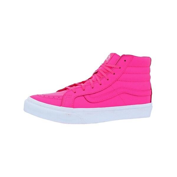 7f62b1ba8a47f4 Shop Vans Womens SK8-Hi Slim Neon High Top Sneakers Skate Neon - 8.5 ...