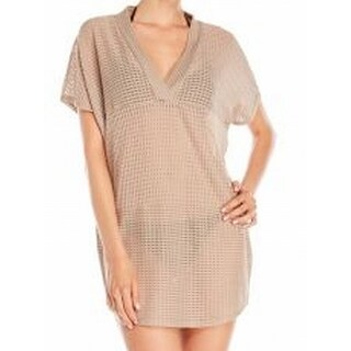 Jordan Taylor NEW Macademia Beige Womens Size Large L Solid Cover-Up