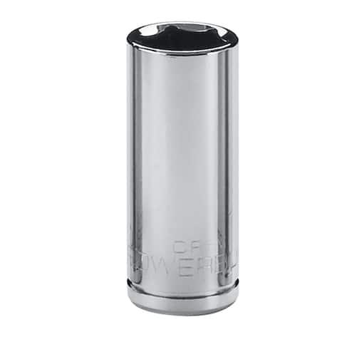 Powerbuilt 1/2-Inch Drive 6 Point Metric Deep Socket 21mm, Chrome Vanadium
