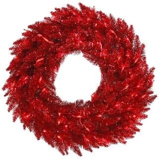 Vickerman K165231 30 in. Dura - Light Tinsel Wreath - Red
