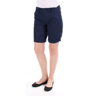 STYLE & COMPANY Womens New 1538 Navy Cuffed, Bermuda Casual Short Petites 4 B+B