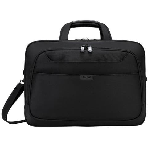 "Targus 17"" Blacktop Deluxe Checkpoint-Friendly Briefcase with DOME Protection - TBT275"