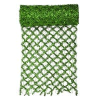 "30' x 12"" Commercial Length Extra Wide Wired Mesh Green Tinsel Garland Ribbon"