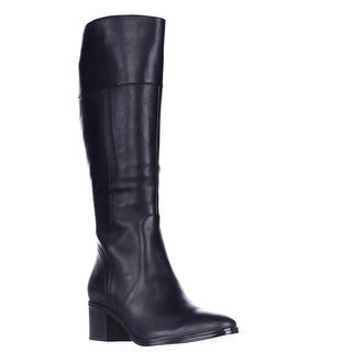 naturalizer Harbor Wide Calf Riding Boots - Black