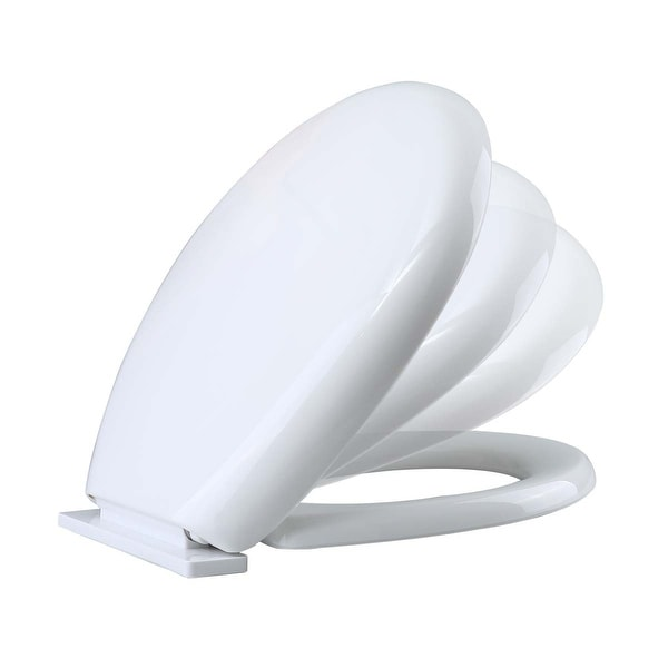 Toilet Seat Slow EZ Close No Slam Plastic Round White | Renovator's Supply