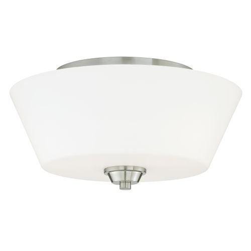 Vaxcel Lighting C0060 Calais 2 Light Flush Mount Indoor Ceiling Fixture with Etched Glass Shade - 13 Inches Wide