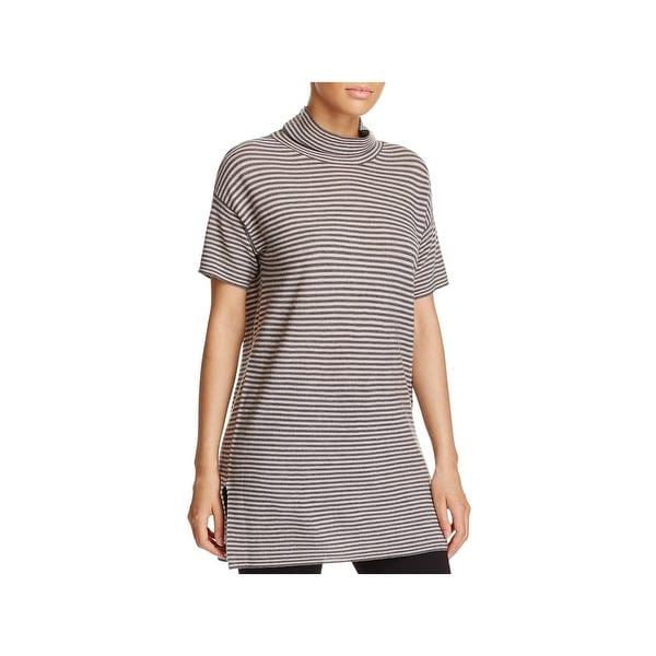 1dc8fa95763 Shop Eileen Fisher Womens Babydoll Dress Striped Merino Wool - XL ...