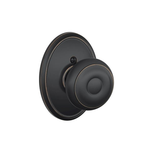Schlage F170-GEO-WKF Georgian Non-Turning One-Sided Dummy Door Knob with the Decorative Wakefield Rose
