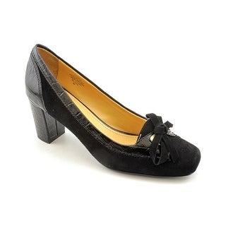 Circa Joan & David Vayle Women  Square Toe Suede Black Heels