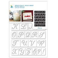 "Script Alphabet - Momenta Adhesive Stencil 6""X8"""