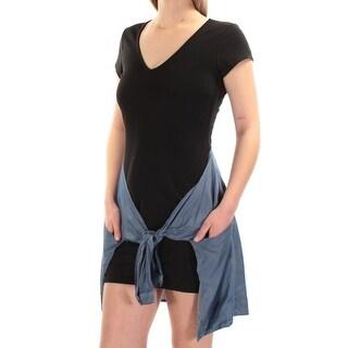 MATERIAL GIRL $59 Womens New 1211 Black Sheath Dress M Juniors B+B