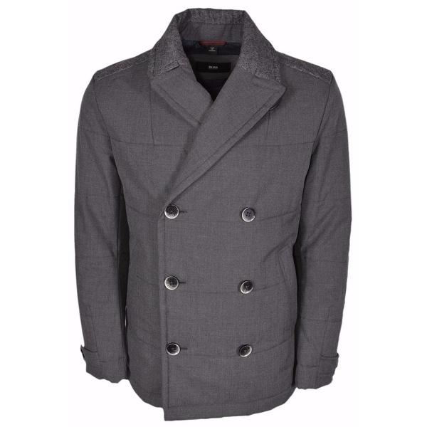 BOSS Hugo Boss Black Line Camius $645 Double Breasted Pea Coat 44 R
