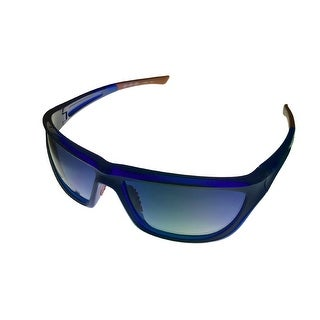 Umbro Sunglass Blue, Blue Gradient Lens Plastic Sport Wrap GS 02 - Medium