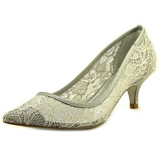 Adrianna Papell Lois Women  Pointed Toe Canvas Silver Heels