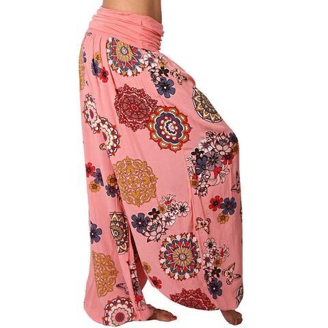 Chunhe Harem Pants Women Boho Trousers Casual Hippie Aladdin Wide Leg Loose Summer Plus Size Pant Dark White S