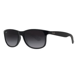 Ray Ban RB4202 601/8G 55mm Andy Black Grey Gradient Square Sunglasses - Shiny Black - 55mm-17mm-145mm