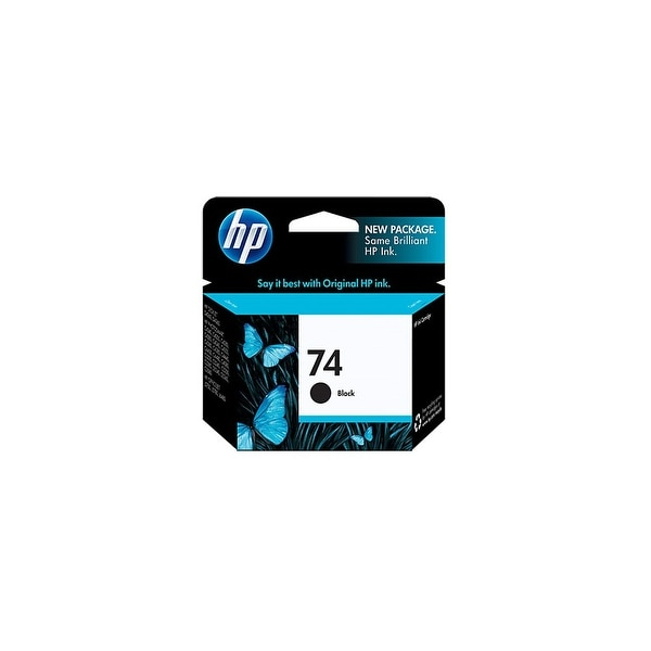 HP 74 Black Original Ink Cartridge (CB335WN)(Single Pack)