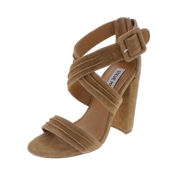 Steve Madden Womens Cradle Dress Sandals Open Toe Block Heel - 5.5 medium (b,m)