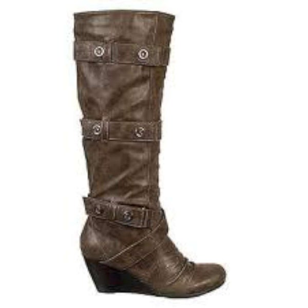 Carlos by Carlos Santana Women's Perry Boot, Taupe, Size 5.5