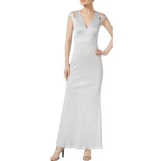 Shop Calvin Klein Womens Evening Dress Metallic Full Length Free