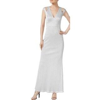 234dd5e1437 Shop Calvin Klein Womens Evening Dress Metallic Full-Length - Free ...  calvin