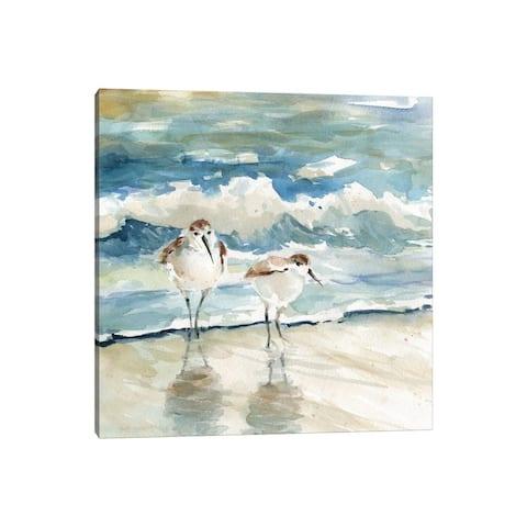 "iCanvas ""Beach Birds"" by Carol Robinson Canvas Print"