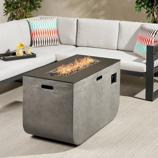 """Link to Adio Outdoor Modern 40-inch Rectangular Fire Pit - 40.00"""" W x 20.00"""" L x 24.00"""" H Similar Items in Outdoor Decor"""