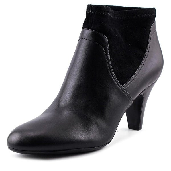 Naturalizer Brenna Women W Round Toe Synthetic Black Ankle Boot