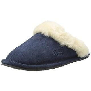 Staheekum Womens Cressida Slipper Suede Wool Lined Slip-On Slippers - 8 medium (b,m)