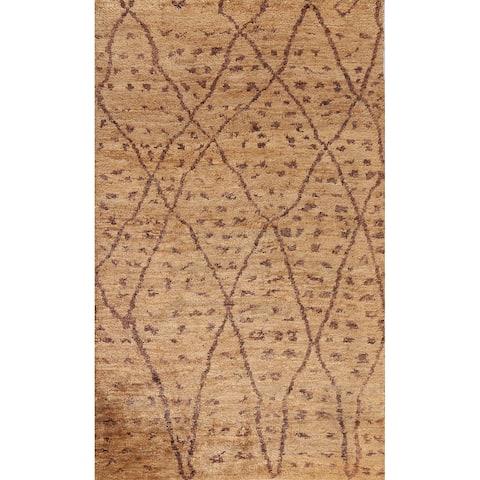 "Contemporary Abstract Oriental Home Decor Area Rug Handmade Carpet - 6'5"" x 9'2"""