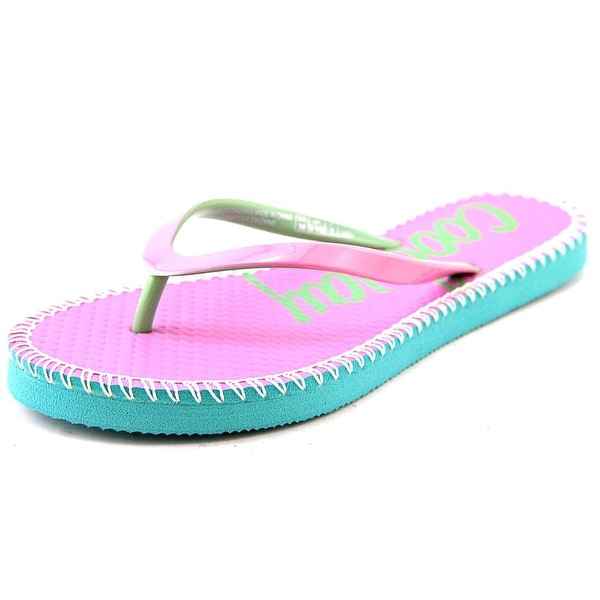 Coolway Sirope Women Open Toe Synthetic Pink Flip Flop Sandal