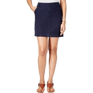 Tommy Hilfiger Womens A-Line Skirt Chino Twill
