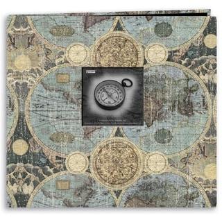"Pioneer Travel Post Bound Album 12""X12""-Globes"