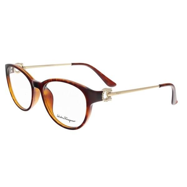 Salvatore Ferragamo SF2704/R 214 Tortoise Cateye Optical Frames - 53-17-130