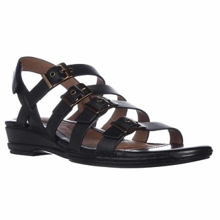 Sofft Sapphire Buckle Strapped Slingback Sandals - Black