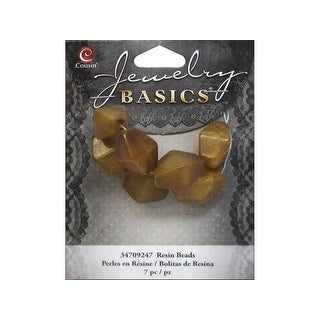 Cousin Bead Resin Bicone 17mm Gold 7pc